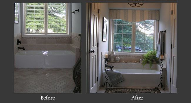 Bathroom tub before and after